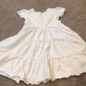 love u lots Dresses - Girls 3T white ruffled soft dress